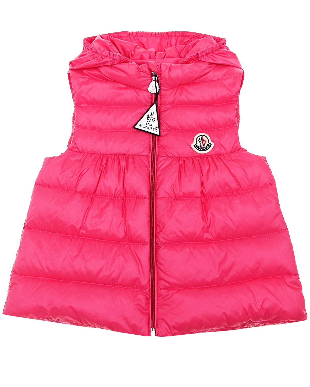 Приталенный жилет New Suzette Moncler детский, Розовый, 100%полиамид, 90%пух+10%перо  - купить со скидкой