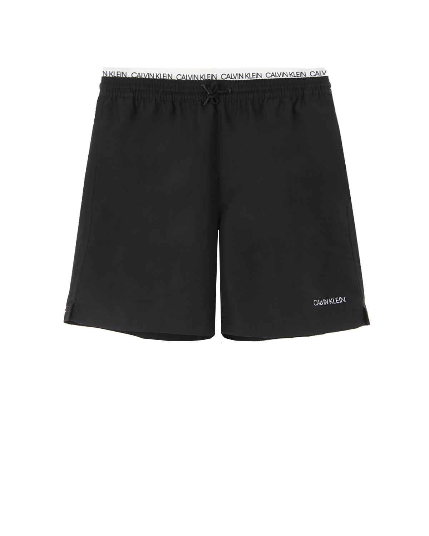 Купить Черные шорты для купания Calvin Klein детские, Черный, 100%полиэстер
