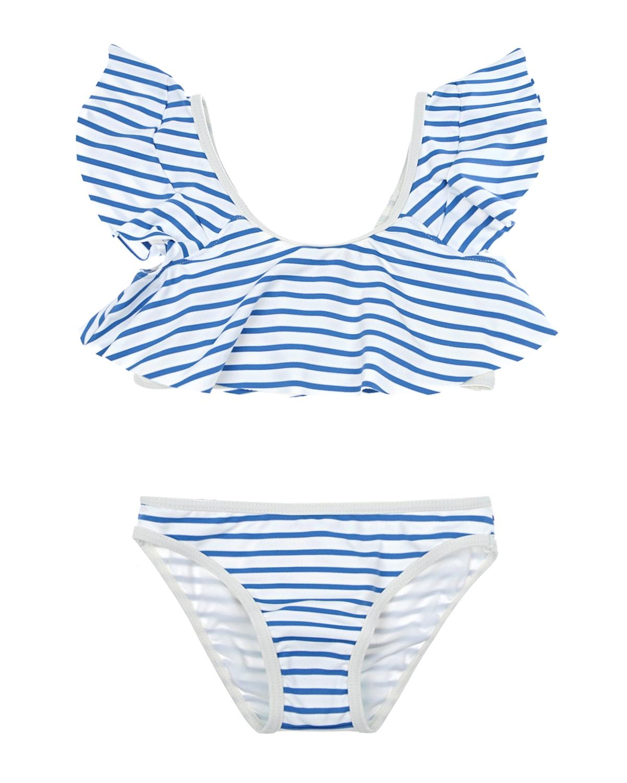 Купить Раздельный купальник в бело-голубую полоску Chloe детский, Мультиколор, 90%полиамид+10%эластан, 88%полиэстер+12%полиэстер