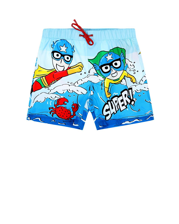 """Шорты для купания с принтом """"Super DG"""" Dolce&Gabbana детские фото"""