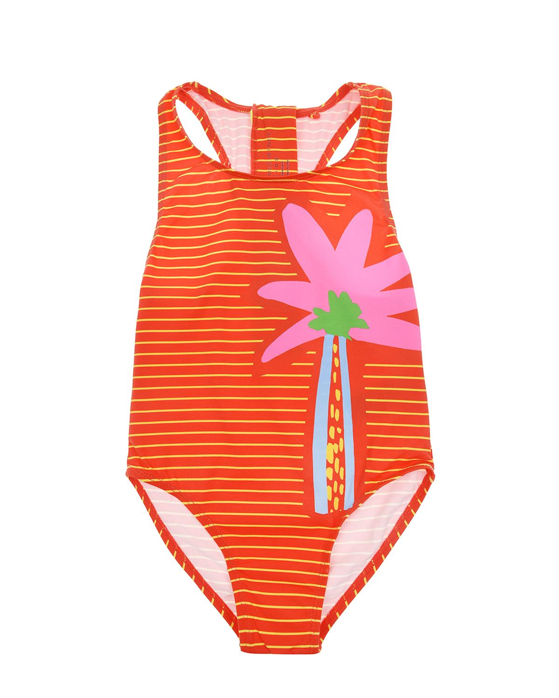 Купить Слитный купальник с застежкой на молнию Stella McCartney детский, Красный, 86%полиамид+14%эластан, 100%полиэстер