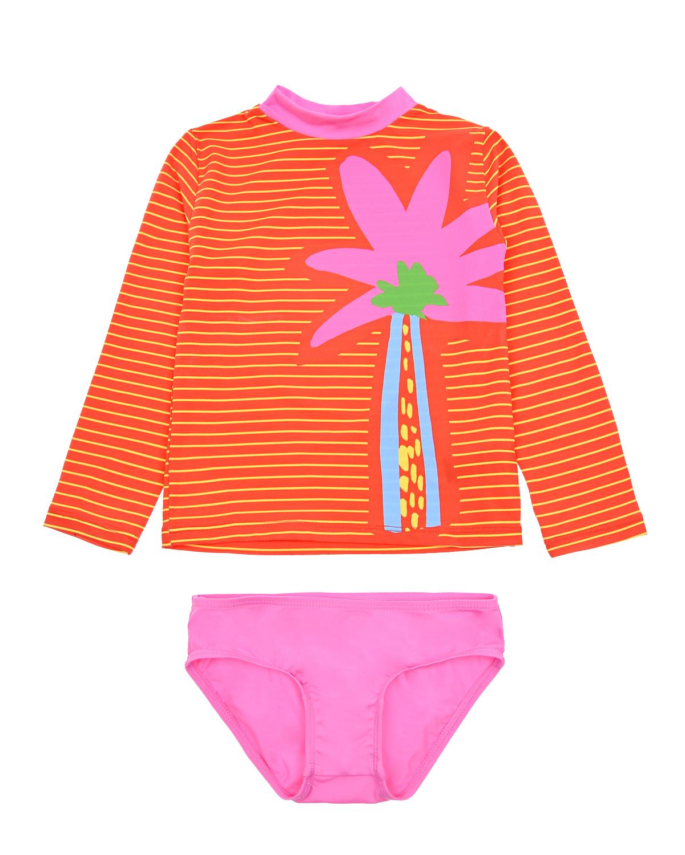 Купить Раздельный купальник с принтом Stella McCartney детский, Красный, 86%полиамид+14%эластан, 100%полиэстер