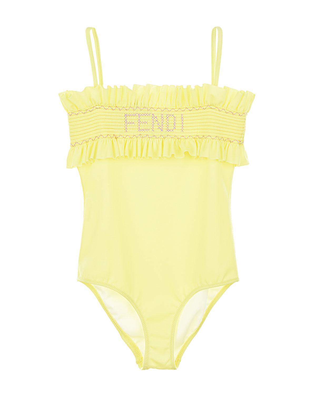 Купить Купальник Fendi детский, Желтый, 80%полиамид+20%эластан