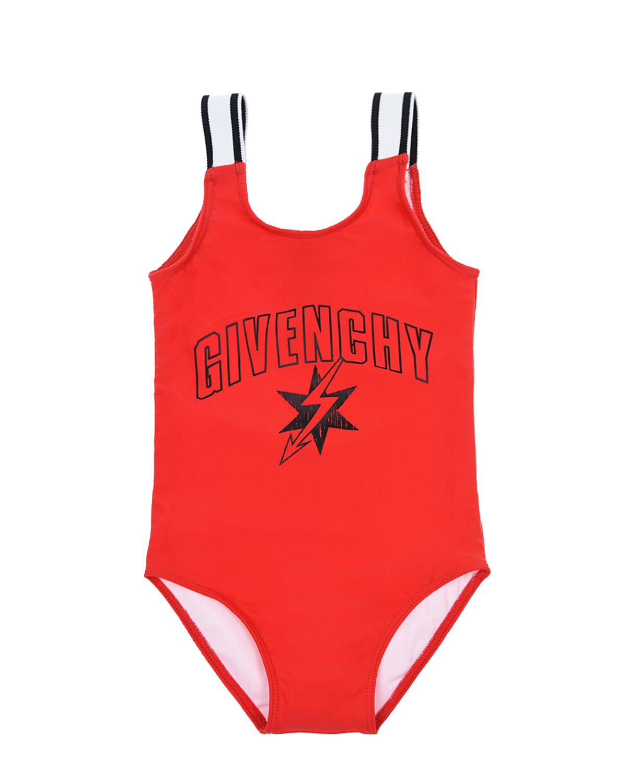 Купить Купальник с логотипом Givenchy детский, Красный, 88%полиэстер+12%эластан, 80%полиамид+20%эластан, 44%полиамид+23%полиэстер+33%эластан
