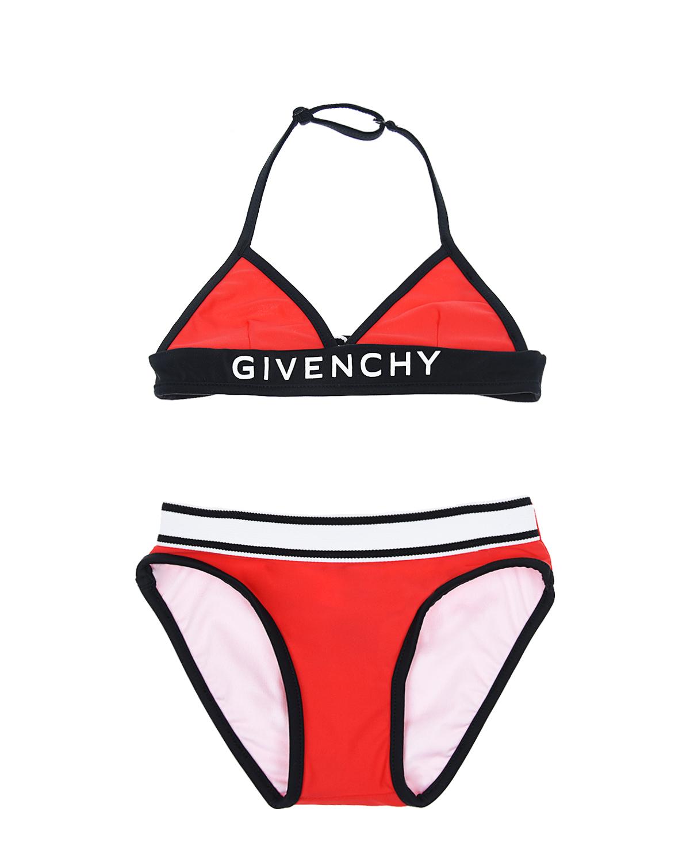 Купить Раздельный купальник Givenchy детский, Красный, 88%полиэстер+12%эластан, 80%полиамид+20%эластан, 44%полиамид+33%эластан+23%полиэстер