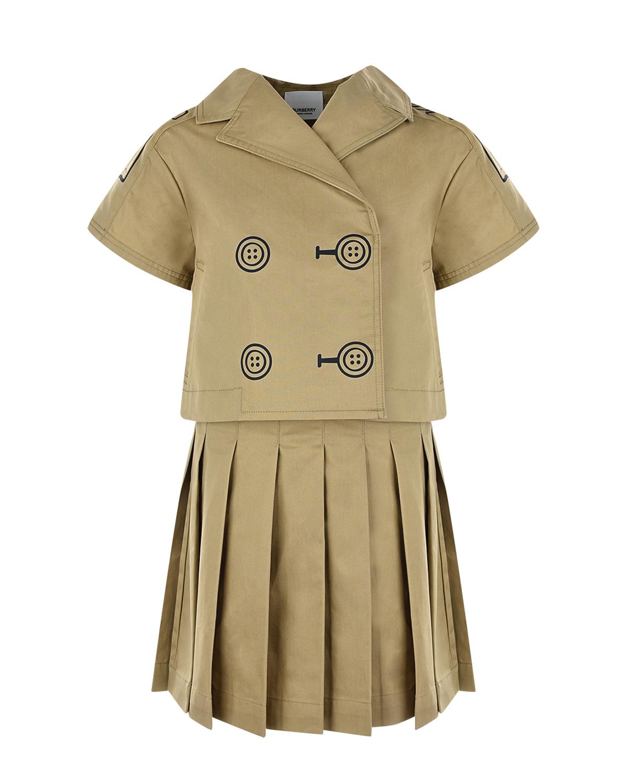 Комплект, платье и пиджак Burberry детский фото