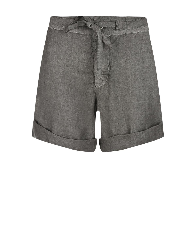 Серые шорты на завязке с подворотом 120% Lino фото