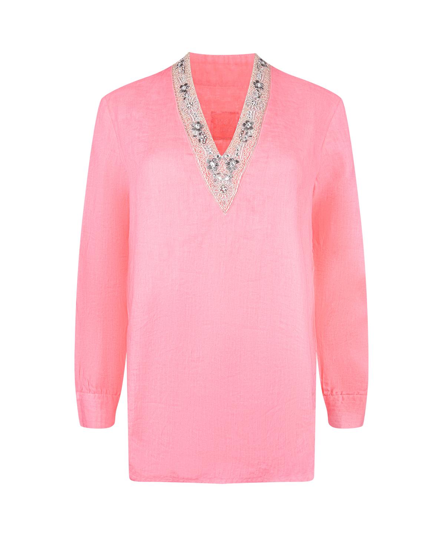 Купить Льняная блуза с длинными рукавами 120% Lino