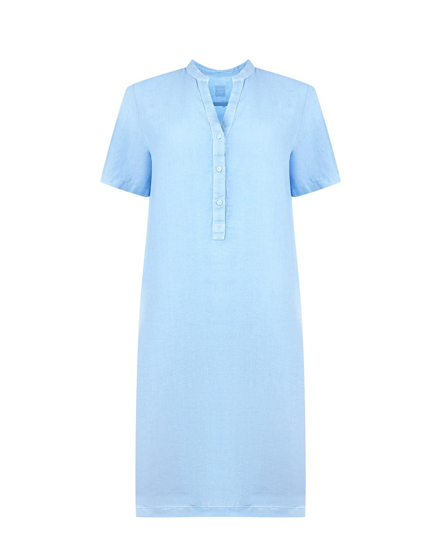Льняное платье свободного кроя 120% Lino фото