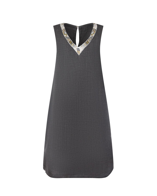 Льняное платье без рукавов 120% Lino фото