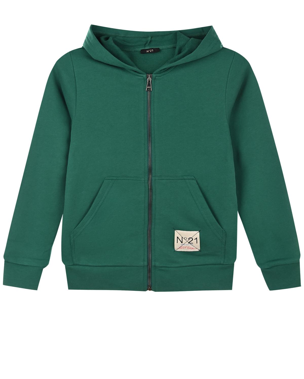 Зеленая спортивная куртка No. 21 детская фото