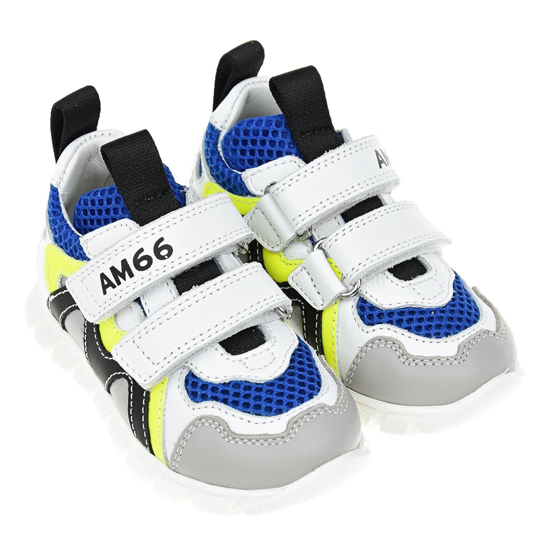 Кроссовки с синими вставками AM66 детские фото