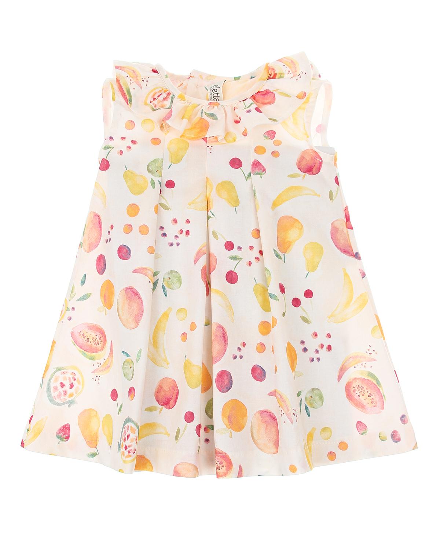 Купить Платье с принтом фрукты Aletta детское, Мультиколор, 100%хлопок