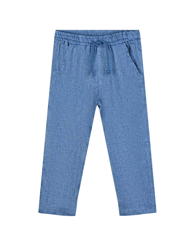 Купить Льняные брюки голубого цвета Arc-en-ciel детские, Голубой, 100%лен