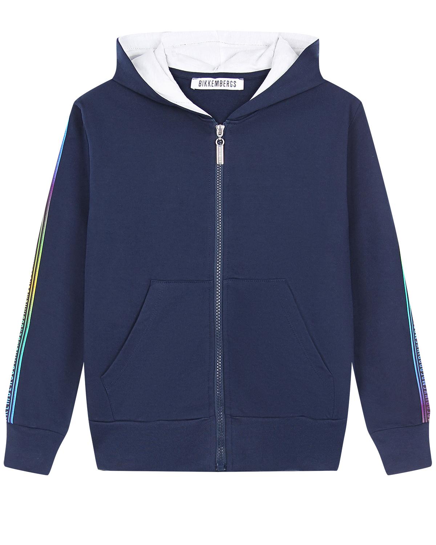 Купить Темно-синяя спортивная куртка Bikkembergs детское, Синий, 100%хлопок