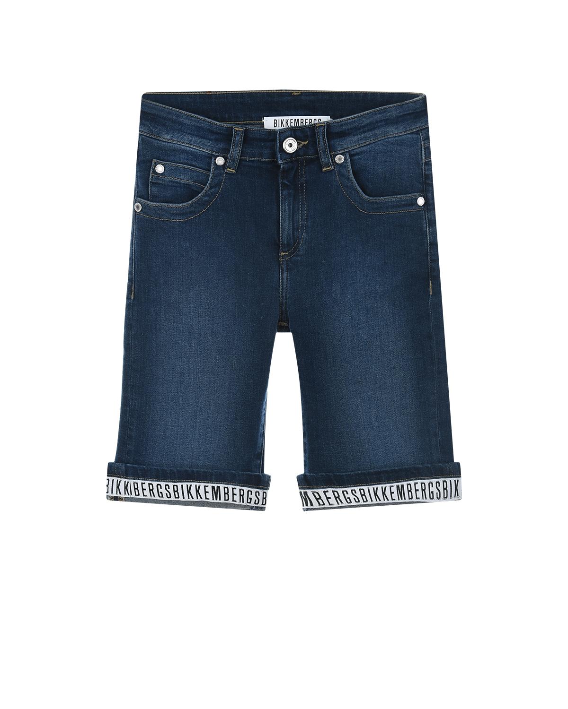 Синие джинсовые бермуды Bikkembergs детские фото