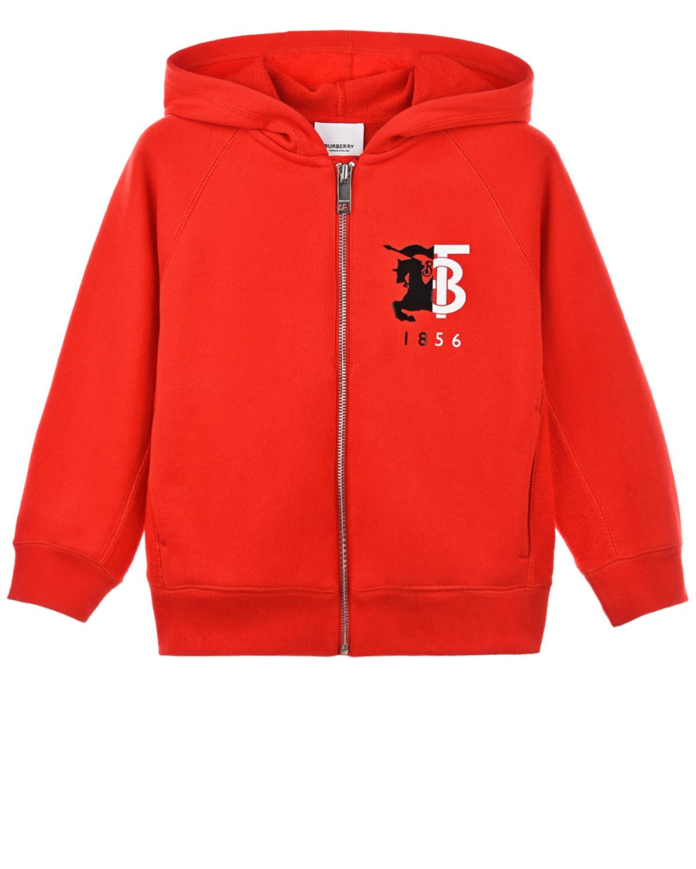 Купить Красная спортивная куртка Burberry детская, Красный, 100%хлопок