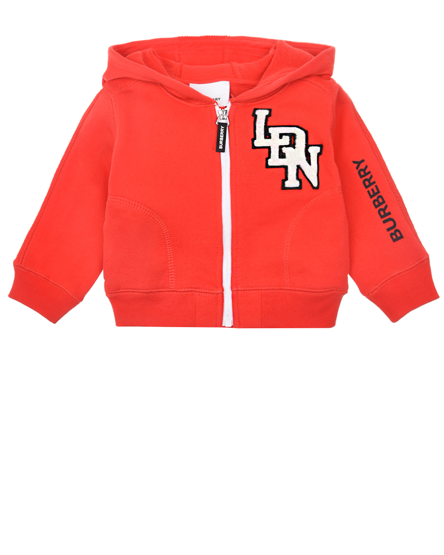 Купить Красная спортивная куртка с капюшоном Burberry детская