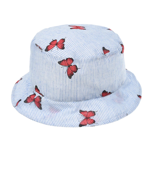 Купить Панама с принтом Бабочки Catya детская, Голубой, 100%хлопок