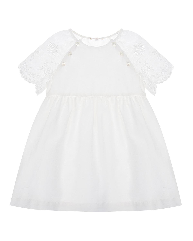 Белое платье с вышивкой Chloe детское фото