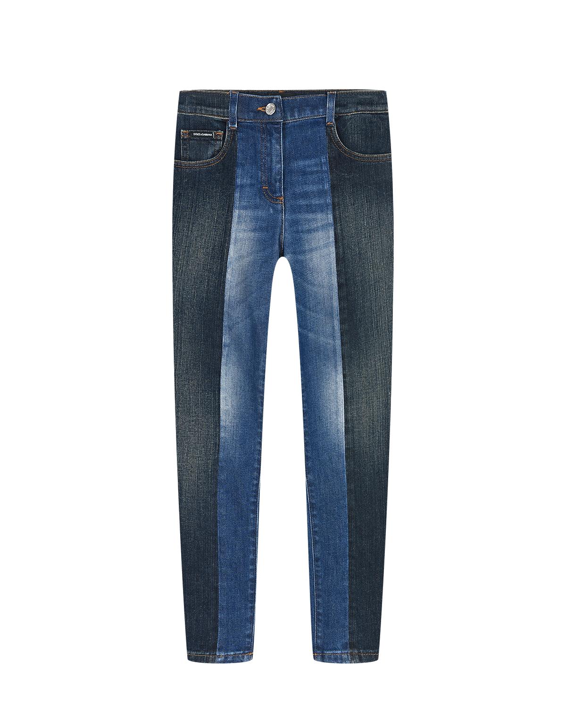 Купить Двухцветные джинсы Dolce&Gabbana детские, Синий, 98%хлопок+2%эластан