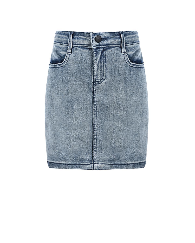 Джинсовая мини-юбка DKNY детская фото
