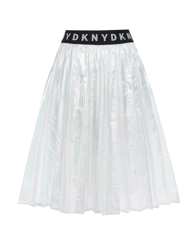 Купить со скидкой Перламутровая юбка с поясом-резинкой DKNY детская
