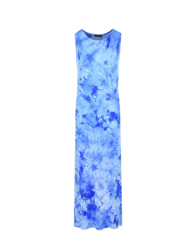 Синее платье с принтом тай-дай Dan Maralex цвет нет цвета