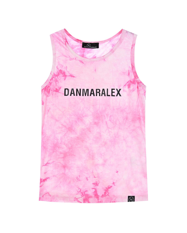 Купить Розовая майка с логотипом Dan Maralex детская, Розовый, 95%вискоза+5%спандекс