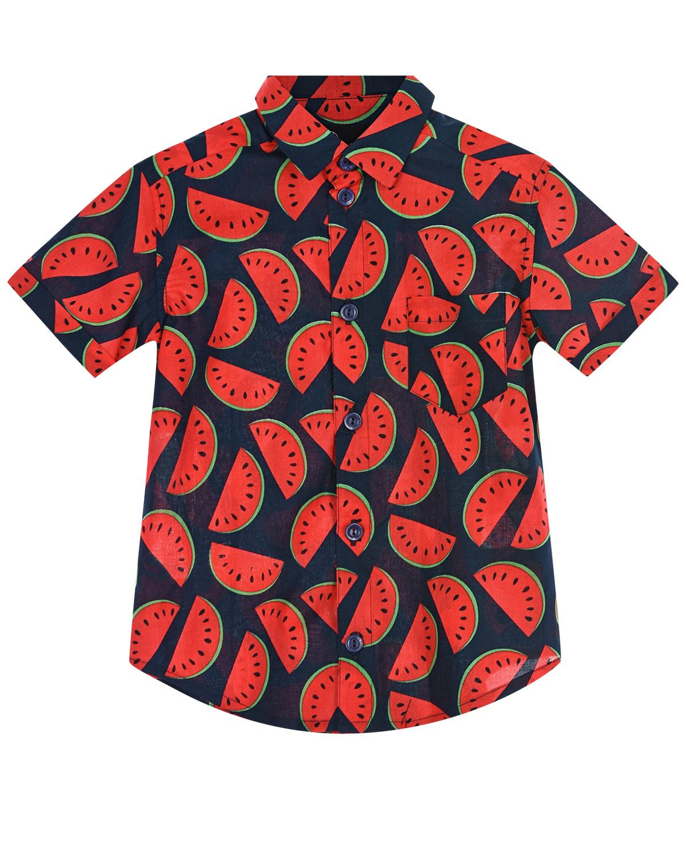 Купить Рубашка с принтом арбузы Dan Maralex детская, Мультиколор, 100%хлопок