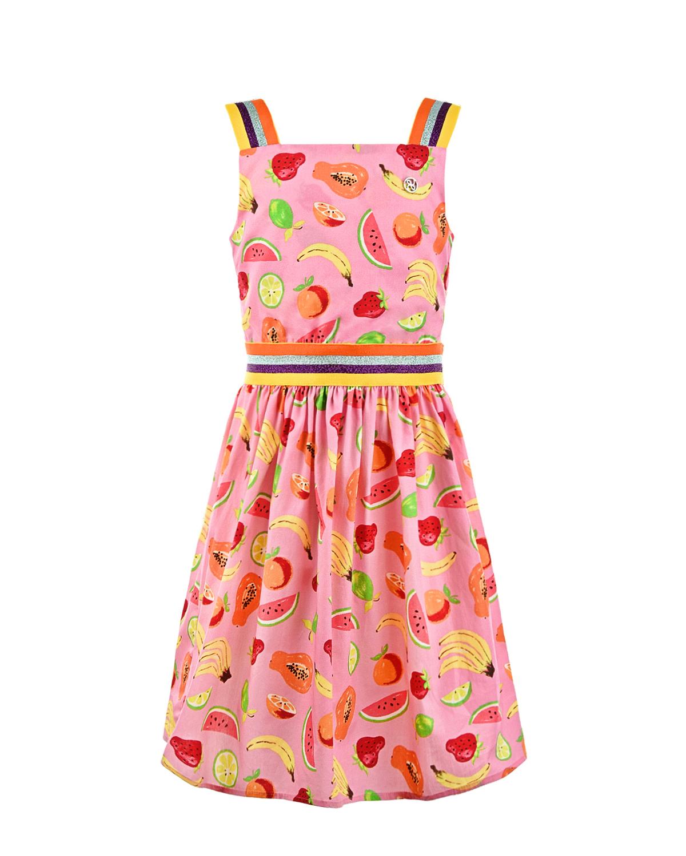 Купить Розовый сарафан с принтом Фрукты Dan Maralex детский, 100%хлопок