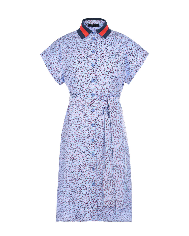 Голубое платье с отложным воротником для беременных Dan Maralex цвет нет цвета