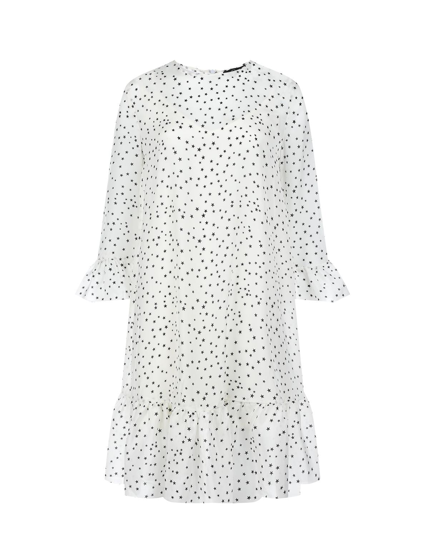Купить Белое платье для беременных с принтом звезды Dan Maralex, Нет цвета, 100%шелк