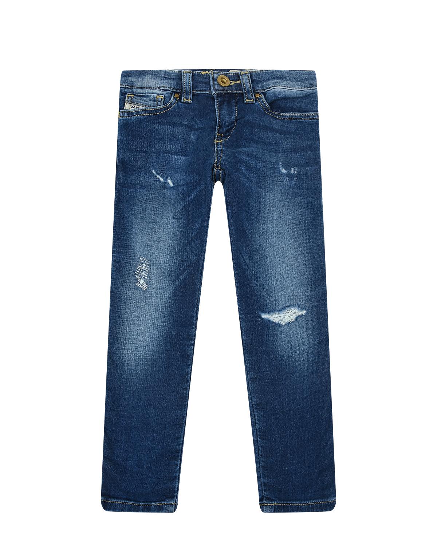 Синие джинсы с разрезами Diesel детские фото