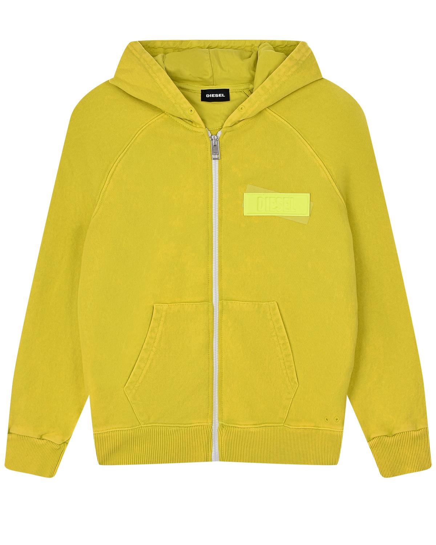 Купить Спортивная куртка горчичного цвета Diesel детская, Нет цвета, 100%хлопок