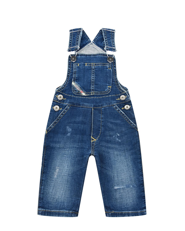Купить Синий джинсовый полукомбинезон Diesel детский
