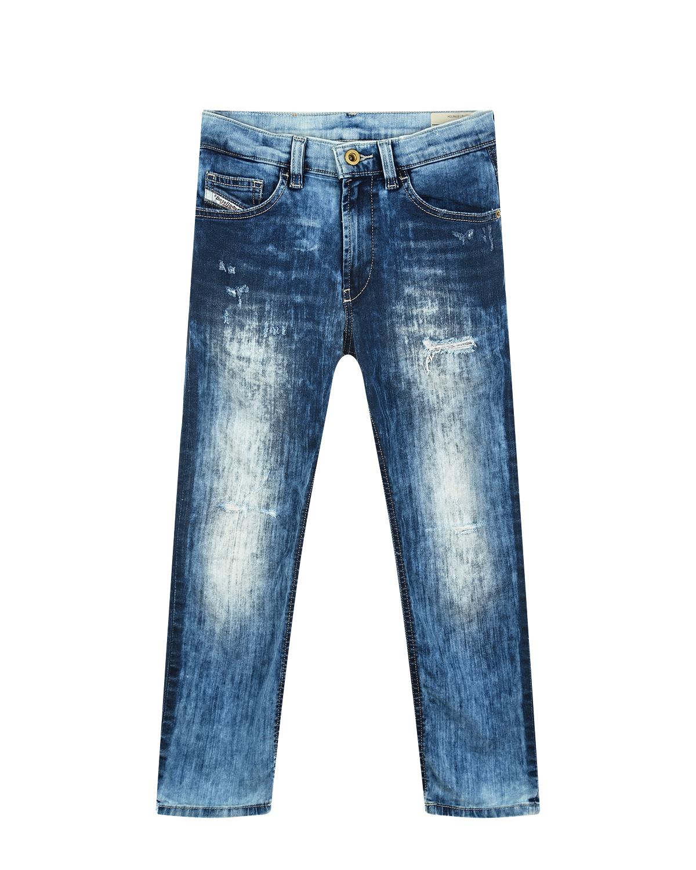 Фото #1: Выбеленные джинсы с разрезами Diesel детские