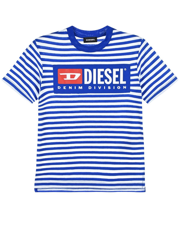 Футболка-тельняшка с логотипом Diesel детская фото