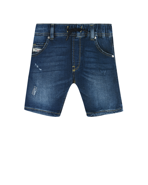 Купить Джинсовые шорты с разрезами Diesel детские, Голубой, 98%хлопок+2%эластан