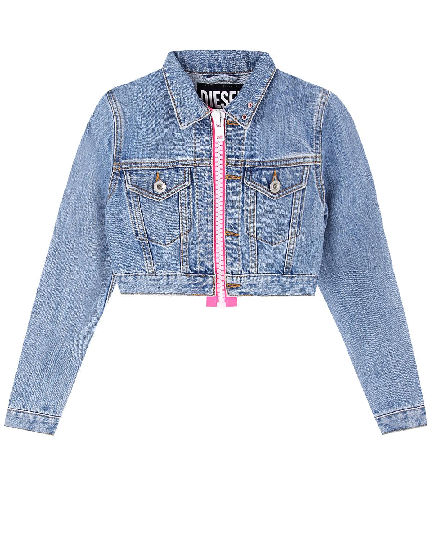 Укороченная джинсовая куртка Diesel детская фото