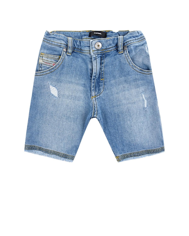 Купить Голубые джинсовые шорты Diesel детские, Голубой, 98%хлопок+2%эластан