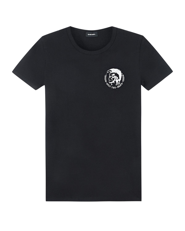 Купить Черная футболка с логотипом Diesel детская