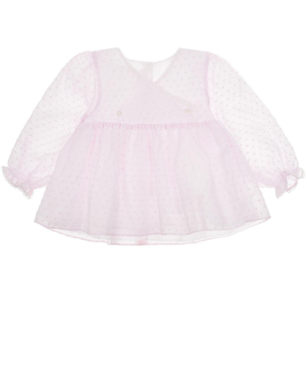 Купить Розовая блуза Dior детская, Розовый, 100% хлопок