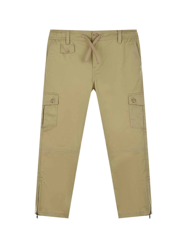Купить Бежевые брюки с карманами карго Dolce&Gabbana детские, Бежевый, 97%хлопок+3%эластан