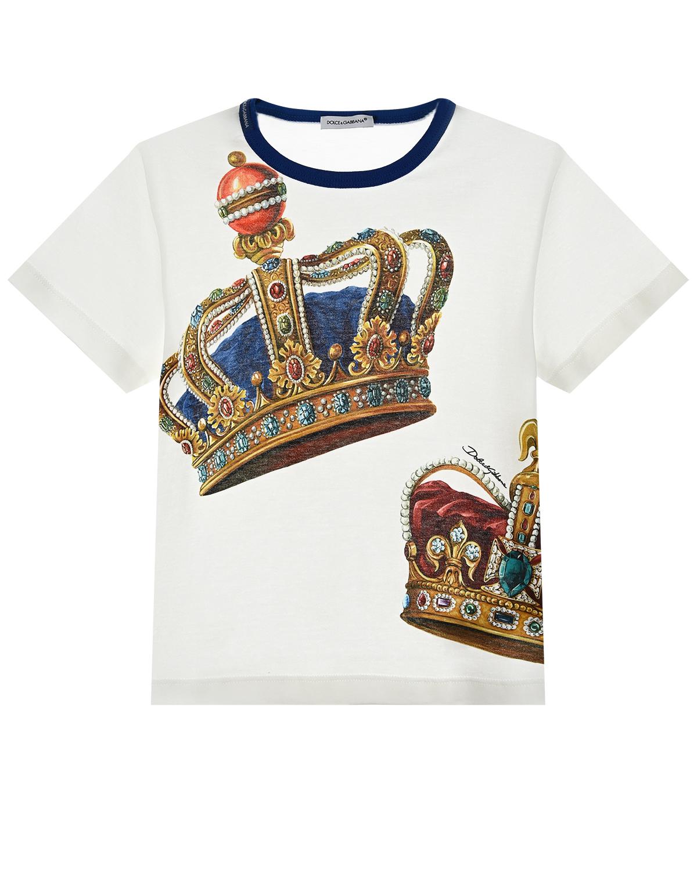 футболка с принтом dolce & gabbana для мальчика