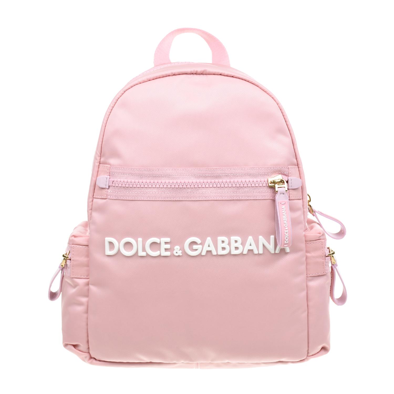 Розовый рюкзак с логотипом 30х29х11 см Dolce&Gabbana детский фото