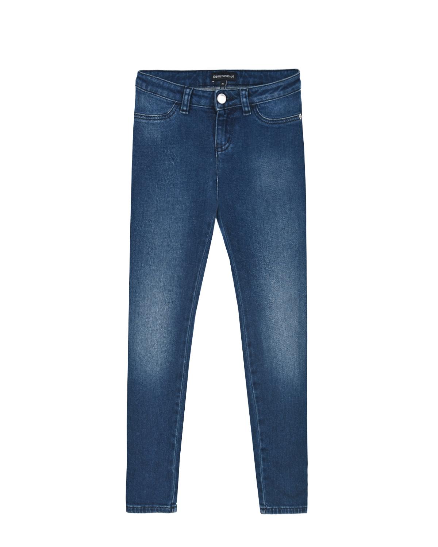 Базовые джинсы голубого цвета Emporio Armani детские фото
