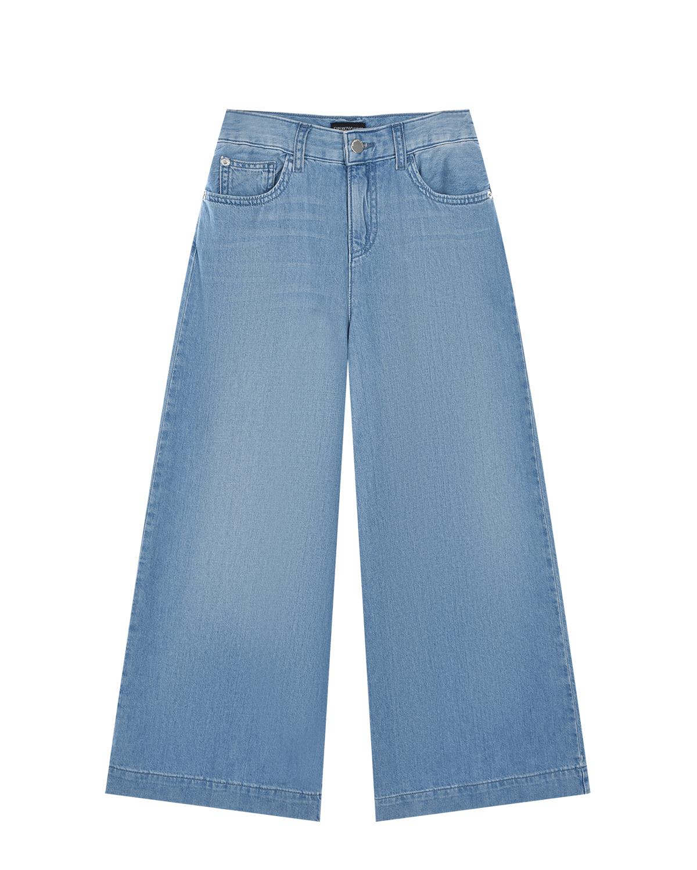 Голубые широкие джинсы Emporio Armani детские фото
