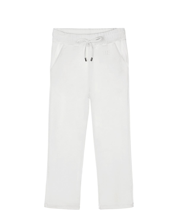 Белые спортивные брюки Ermanno Scervino детские фото