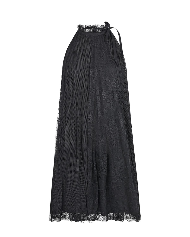 Купить Платье из плиссерованной сетки с цветочным узором Ermanno Ermanno Scervino